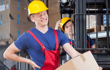 Accident Insurance depicted by work injury
